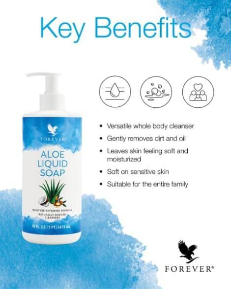 Forever Aloe Liquid Soap - Key benefits