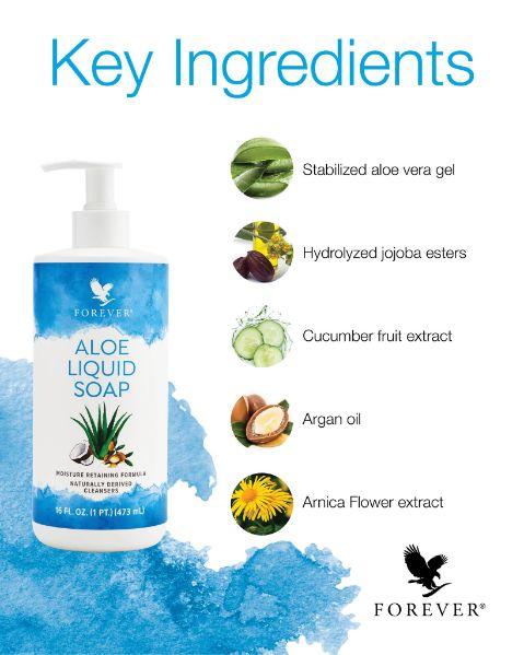 Forever Aloe Liquid Soap - Key ingredients